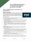 Sumary of H.R. 4321 - CIR ASAP of 2009