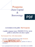 Prospectus & Shares & Borrowings