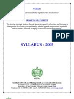 Syllabus ICMAP