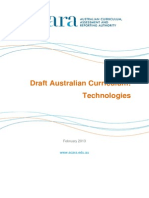 Draft Australian Curriculum Technologies - February 2013