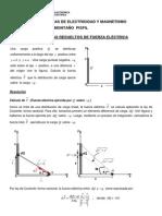 Problemas Resueltos de Fuerza Eléctrica.pdf