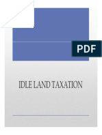Orientation Idle Land Taxation