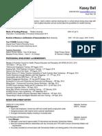 kasey ball resume 2014 portfolio