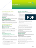 Personal Critical Information Summary Telstra Broadband Adsl 200gb