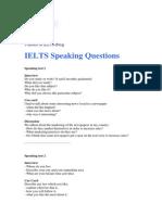 Complete Speaking Topics