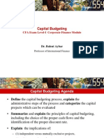 CFA Capital Budgeting