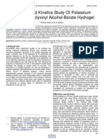 Sorption and Kinetics Study of Potassium Chloride in Polyvinyl Alcohol Borate Hydrogel