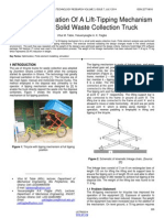 Weight Optimization of a Lift Tipping Mechanism for Small Solid Waste Collection Truck