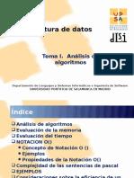 Análisis de algoritmos (tema I)