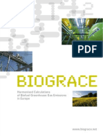 BioGrace - Harmonised Calcs of Biofuel GHG Emissions in Europe