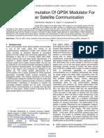 Design and Simulation of Qpsk Modulator for Optic Inter Satellite Communication