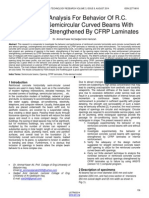 Nonlinear Analysis for Behavior of Rc Horizontally Semicircular Curved Beams With Openings and Strengthened by Cfrp Laminates