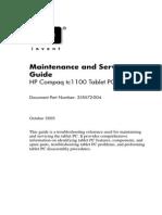 Hp Tc1100 Maintenance