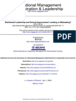Distributed leadership towards school improvement