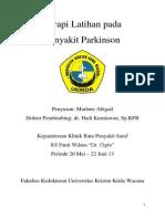 Referat - Terapi Latihan Pada Penyakit Parkinson - Marlene Abigail