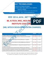 2014 Ieee Java .Net Titles