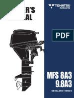 User Manual Tohatsu Mfs 9.8a3 e