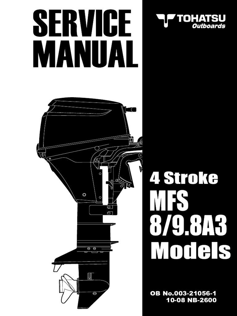 TOHATSU 2010 MFS8,9 8A3 003-21056-1   Piston   Carburetor