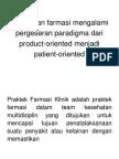 Pengenalan Farmasi Klinik