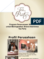 Program Perencanaan Website untuk Meningkatkan Brand Awareness Tea Party Cupcake