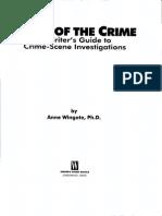 Scene of the Crime a Writer's Guide to Crime Scene Investigation