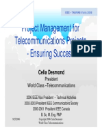 Ensuring Success in Telecom Projects