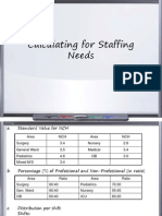 Calculating for Staffing Needs