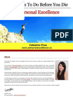 101 Things to Do Before You Die (Personal Excellence) Please Share Thank You
