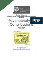 Psychoanalysis Module Handbook 2014(1)