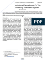 Influence Organizational Commitment on the Quality of Accounting Information System