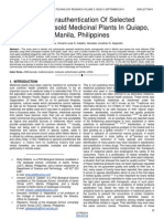 Molecularauthentication of Selected Commerciallysold Medicinal Plants in Quiapo Manila Philippines