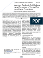 Temperature Dependent Decline in Soil Methane Oxidizing Bacterial Population in Tropical Dry Deciduous Forest Ecosystems