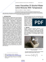 Variations of Excess Viscosities of Alcohol Water and Alcohol Alcohol Mixtures With Temperature
