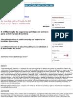A militarização da segurança pública, um entrave para a democracia brasileira.pdf