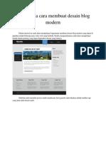 Bagaimana Cara Membuat Desain Blog Modern