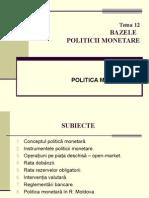 Tema 12. Politici Monetare