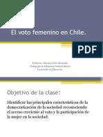 El voto femenino en Chile.ppt