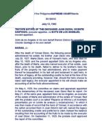 TESTATE ESTATE OF THE DECEASED JUAN DIZON, VICENTE SANTIAGO, executor-appellee, vs.SIXTO DE LOS ANGELES, movant-appellant.