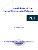The Dismal State of the Social Sciences in Pakistan