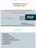 3 Review Production of Electricty Using Brakes