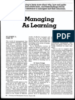 Managing as Learning