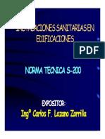 Instalaciones sanitarias en edificaciones Norma Tecnica S200.pdf