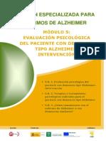Módulo 5. Evaluacion psicólogica del paciente con demencia. Tipo alzheimer. Intervención..pdf