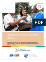 3.10 Monitoring and Evaluation Plan Module