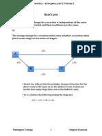 Hess's Law as Chem Tutorial 2 Kajana