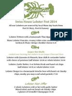Swiss House Lobster Fest