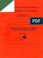 Kosta, P. - Reflexionen Zur Sorbischen-wendischen Sprache, Kultur Und Literatur