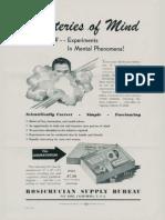 AMORC Mysteries of Mind (Flyer)