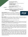 12th October 2014 Parish Bulletin