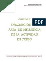 V DESCRIPCIÓN DEL ÁREA  DE INFLUENCIA  DE LA  ACTIVIDAD EN CURSO.docx